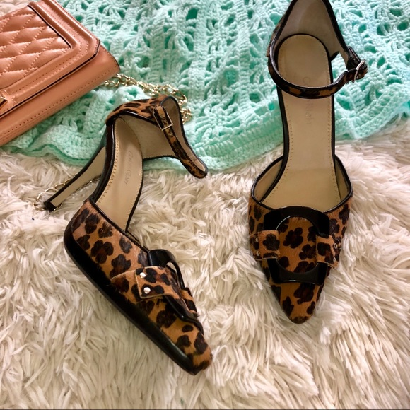Calvin Klein Vincent Calf Hair Leopard Pumps 6